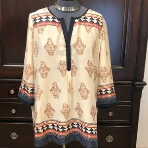 LUCKY BRAND XL Southwest style tunic Blouse Indian